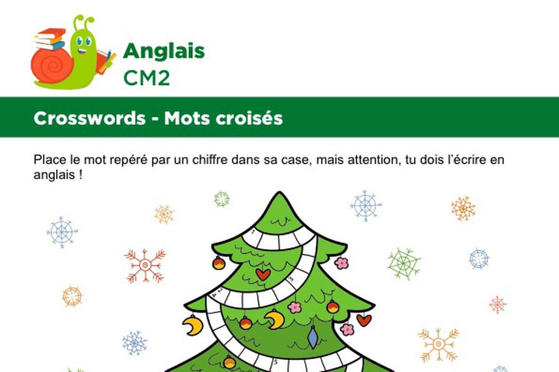 Mots Croisés En Anglais Sur Le Thème Des Cadeaux De Noël tout Mots Croisés Noel