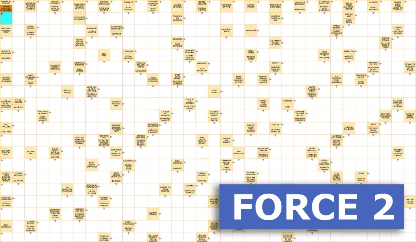 Mots Fléchés Géants Gratuits - Force 2 - 14 Janvier 2020 serapportantà Mots Croisés Faciles À Imprimer