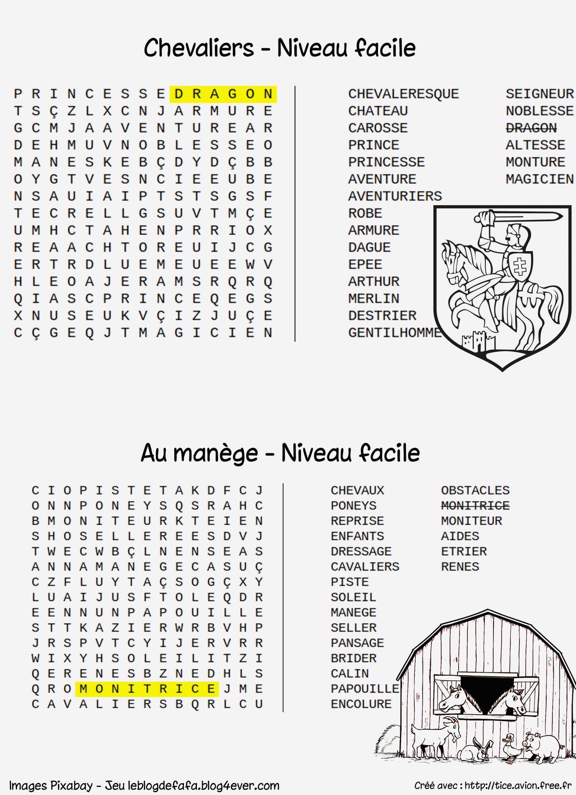 Mots Mélés À Imprimer - Coloriages Gratuits intérieur Mots Croisés Faciles À Imprimer
