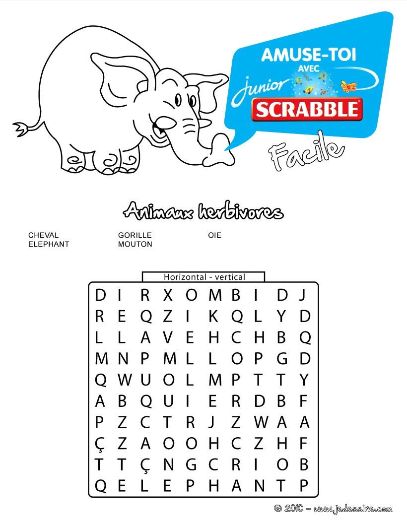 Mots Mêlés À Imprimer - Jeux Pour Enfants - Jeux De encequiconcerne Mots Croisés Faciles À Imprimer