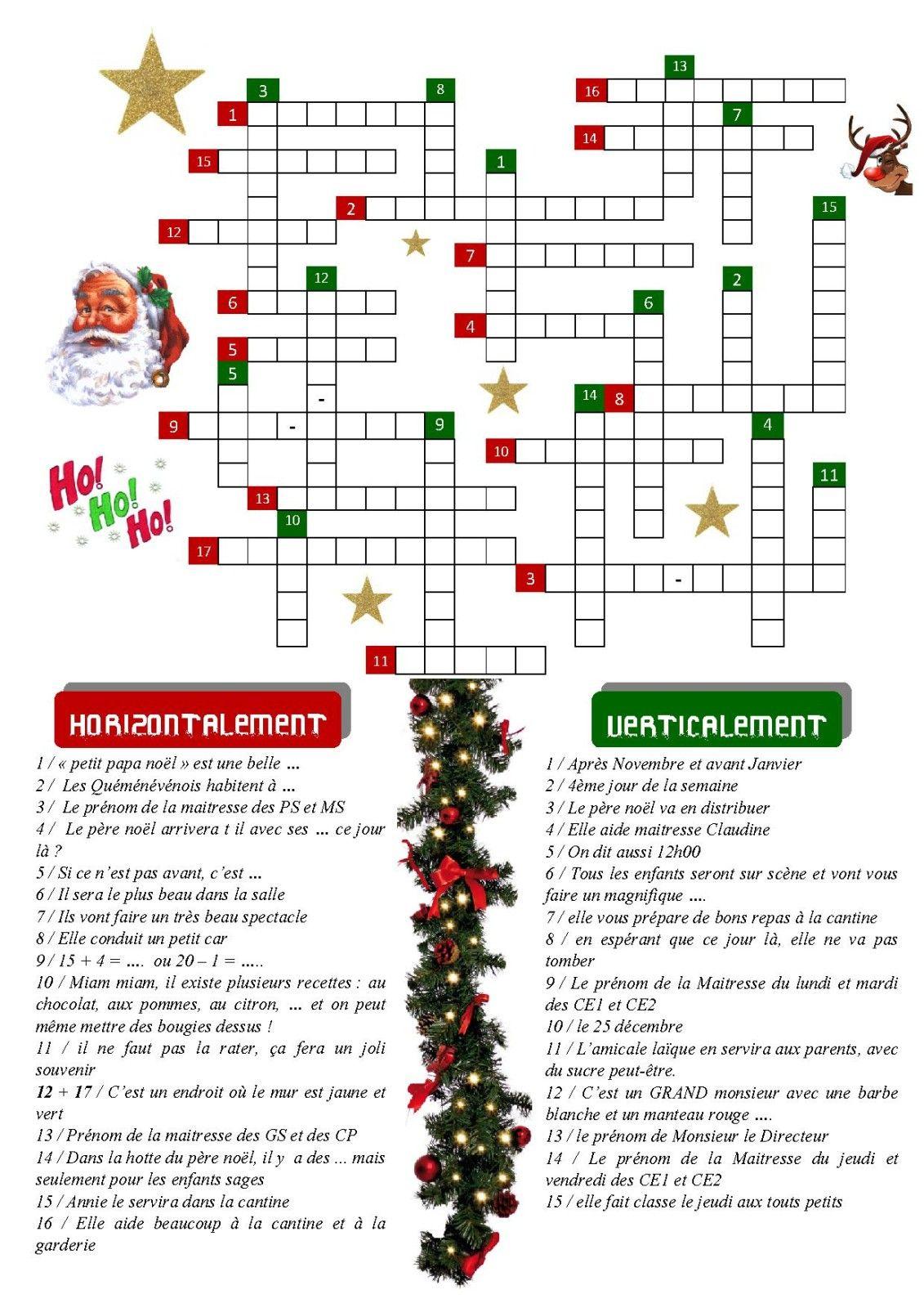 Mots Meles Noel Cm2 (Avec Images) | Jeux Noel, Noel, Mots De dedans Mots Croisés Noel