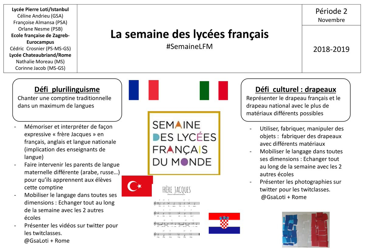 """Ms2Chato On Twitter: """"fière De Notre Travail ! @gsaloti intérieur Frere Jacques Anglais"""