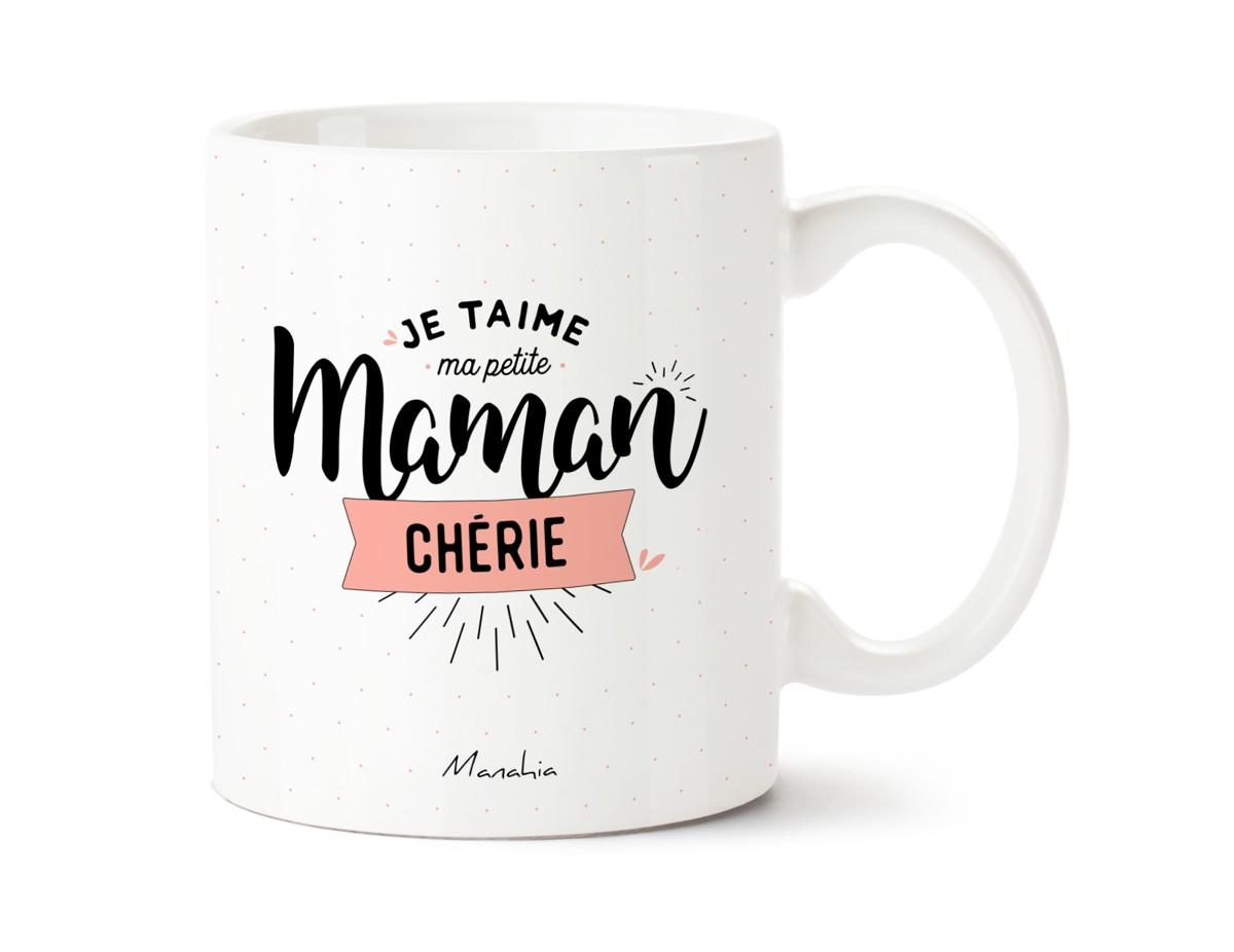 Mug - Je T'aime Ma Petite Maman Chérie | Imprimé En France concernant Texte Maman Je T Aime