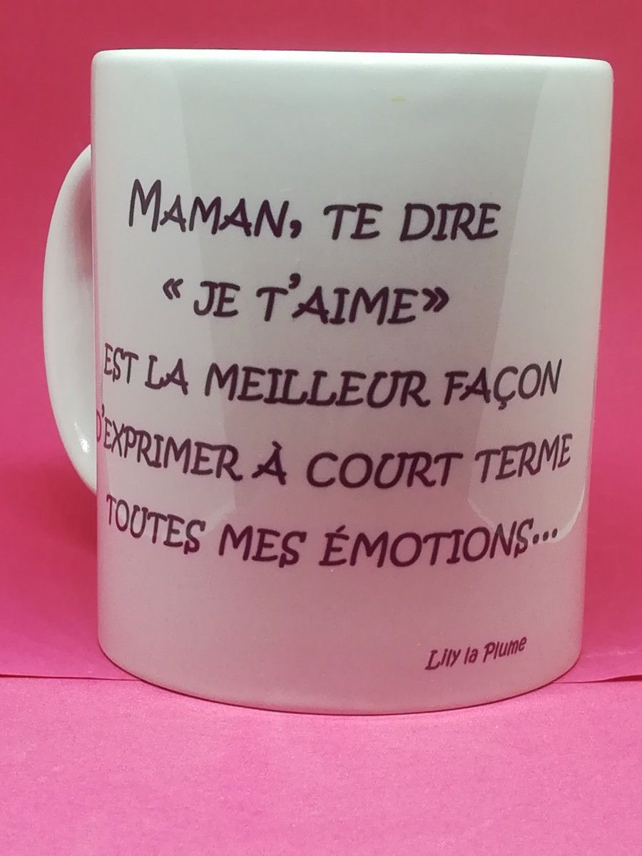 Mug Maman Je T'aime | Je T'aime Maman, Texte Pour Maman Et Maman encequiconcerne Texte Maman Je T Aime
