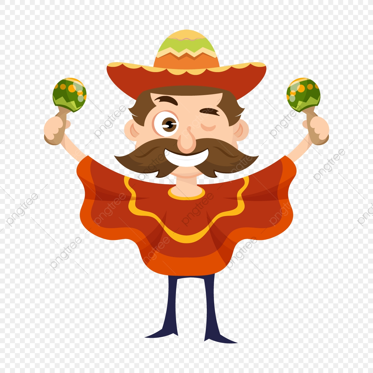 Musicien Mexicain, Contexte, Banner, Carte Png Et Vecteur concernant Musicien Mexicain