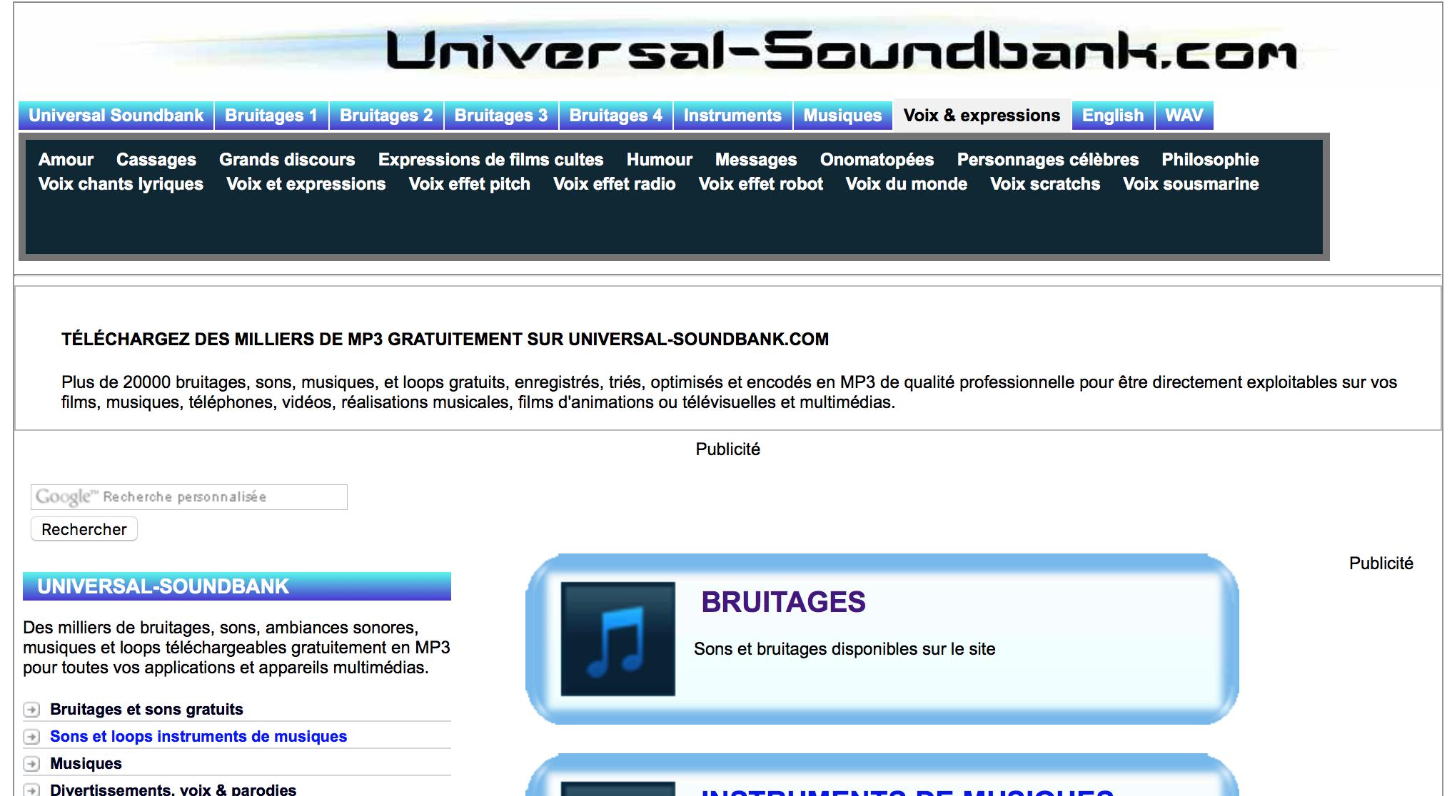 Musique-Libre-De-Droit-Universal-Soundbank - World Of Digits tout Effet Sonore Gratuit