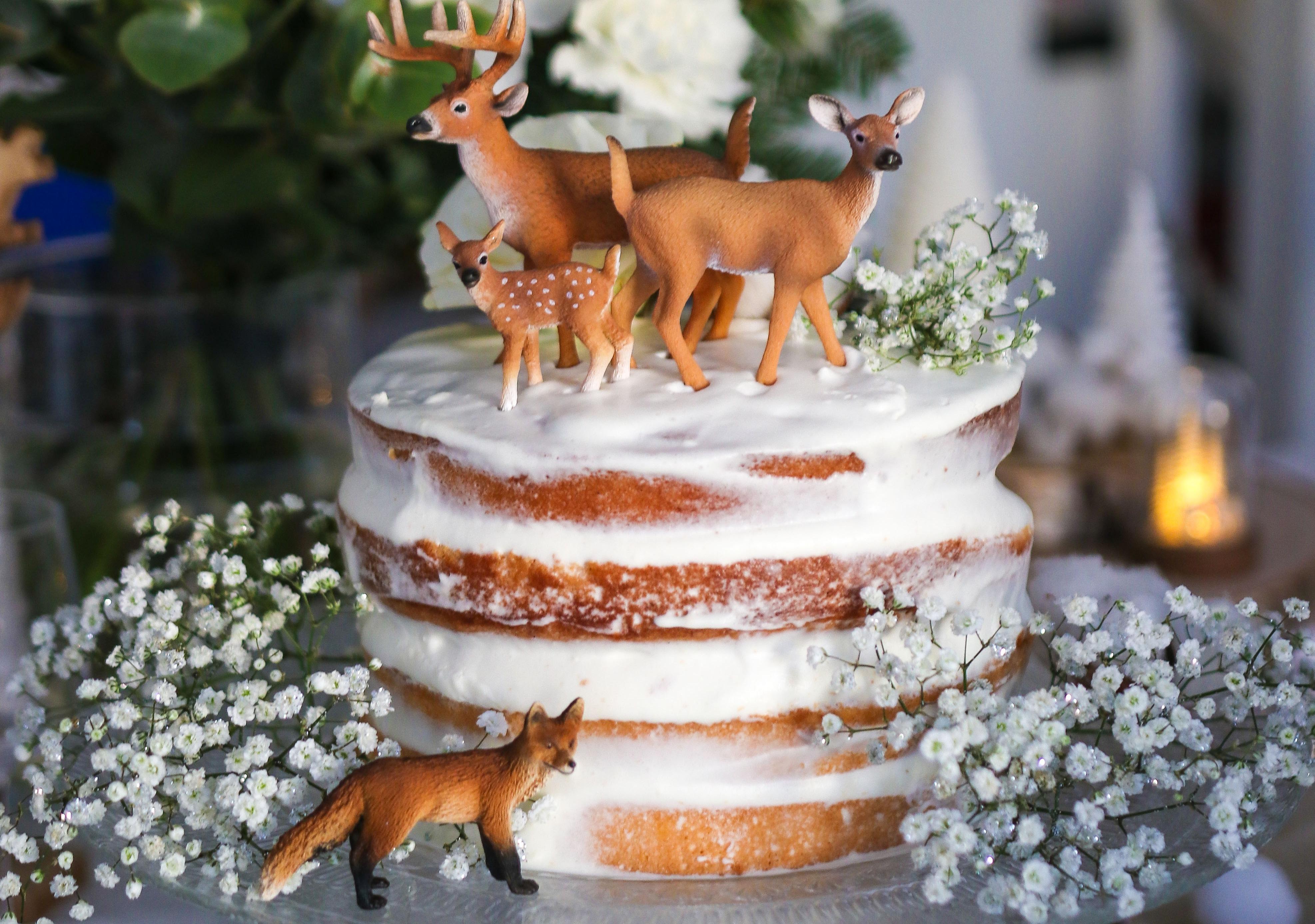 """Naked Cake Aux Framboises """"les Animaux De La Forêt"""" (Blog Zôdio) intérieur Image D Animaux De La Foret"""