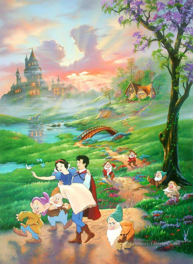 Neige Blanche Et Prince Dessin Animé Pour Enfants Peinture encequiconcerne Tableau De Peinture Pour Enfant