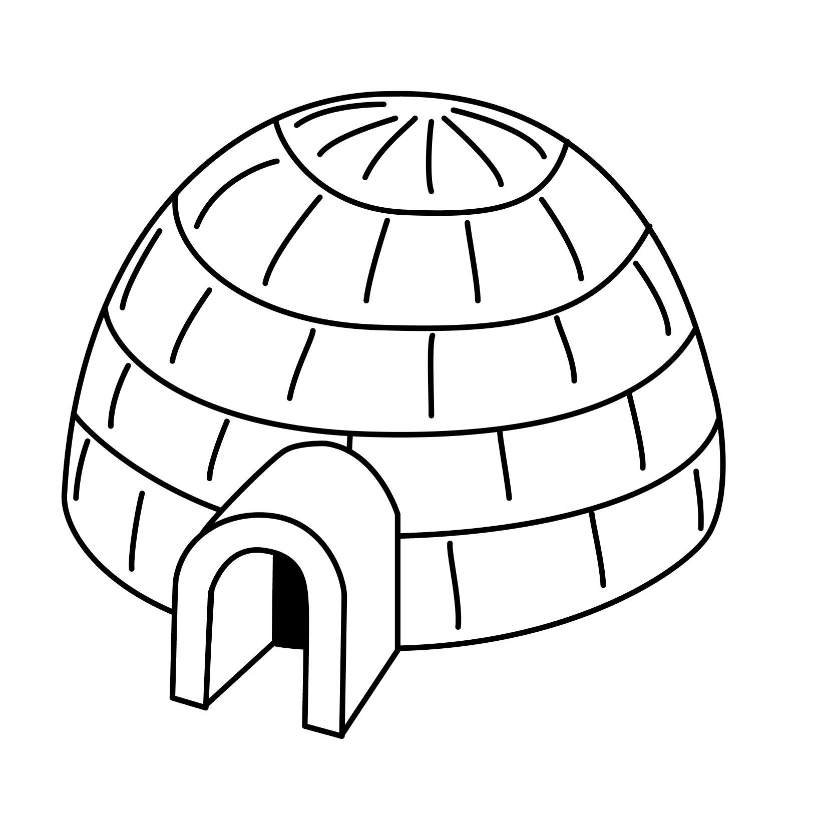 Nice Coloring Page Igloo That You Must Know, You're In Good destiné Coloriage Igloo