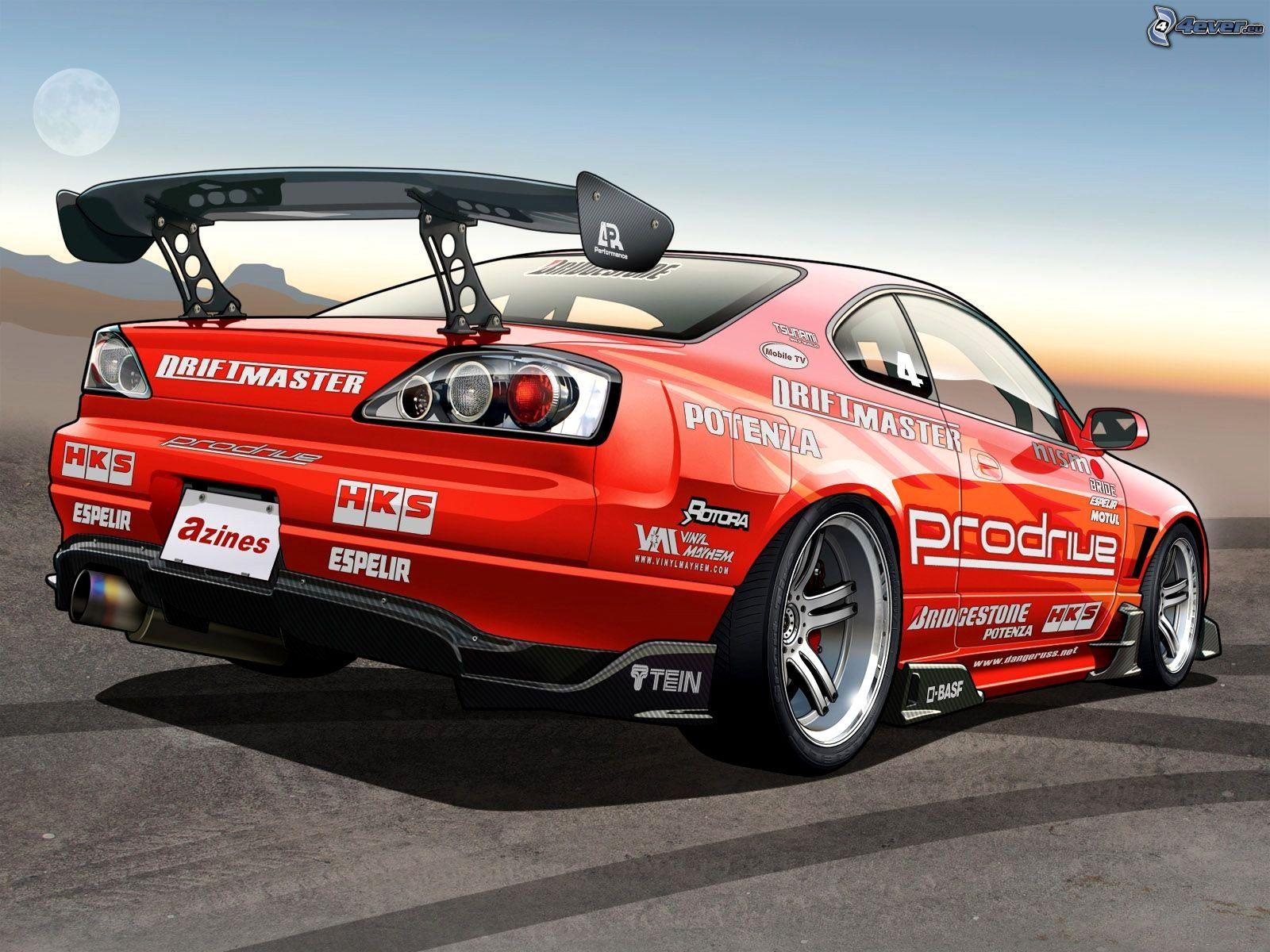Nissan Silvia intérieur La Voiture De Course Dessin Animé