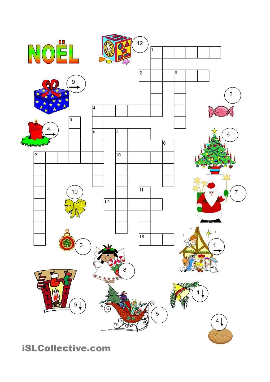 Noël Mots Croisés | Joyeux Noel, Noel Et Jeux Noel dedans Mots Croisés Noel