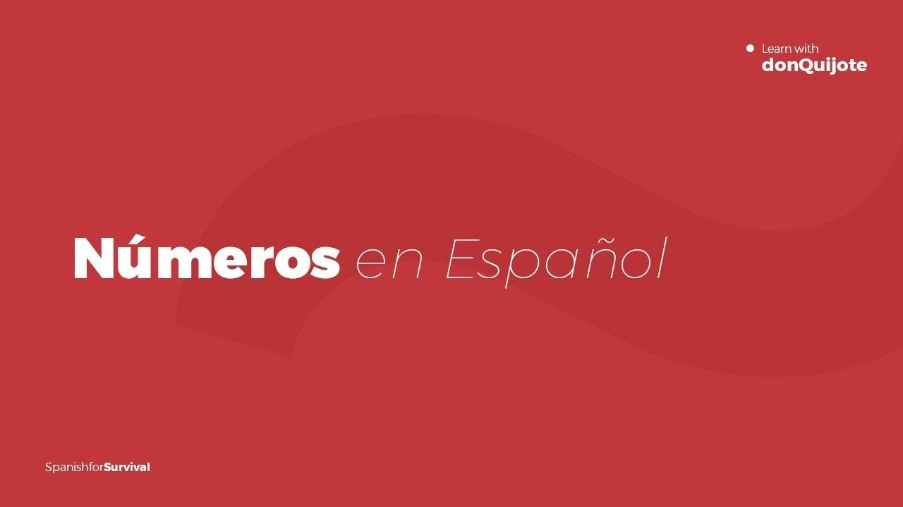 Nombres Espagnols 1 - 100. Aprenez À Compter En Espagnol à Chiffres Espagnol 1 À 1000