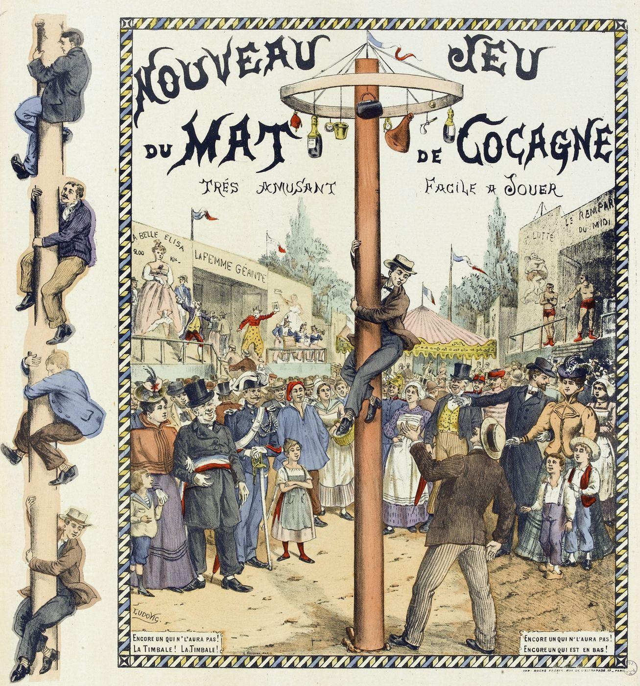 Nouveau Jeu Du Mât De Cocagne | Histoire Et Analyse D'images avec Dessin De Fete Foraine