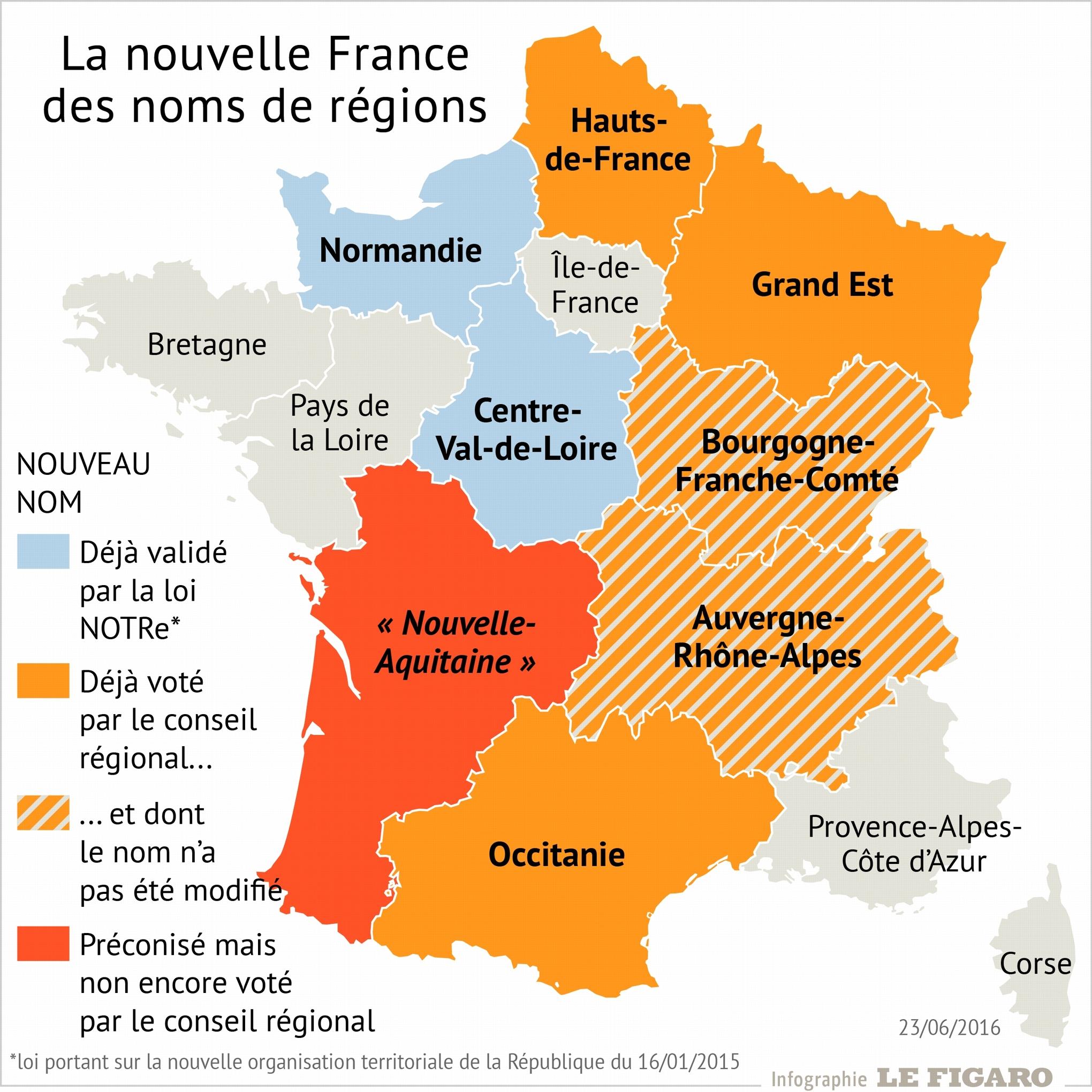 Occitanie, Nouvelle-Aquitaine: Discordes Autour Des concernant Nouvelle Region France
