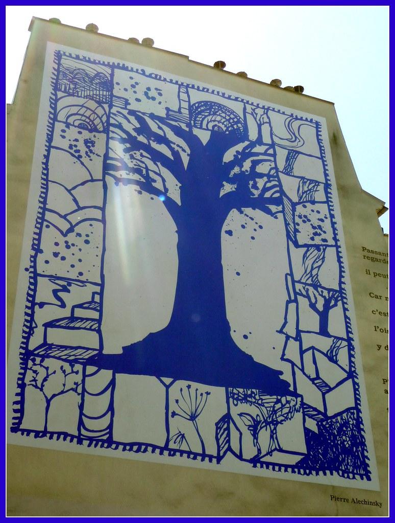 Oeuvre De Pierre Alechinsky | Rue Descartes | Valkiribocou concernant Oeuvre Alechinsky