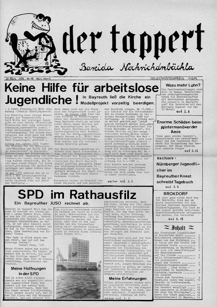 Offenes Jugendzentrum Bayreuth 1974-82 (Revival Party Zum 40 avec Atelier Autonome Grande Section