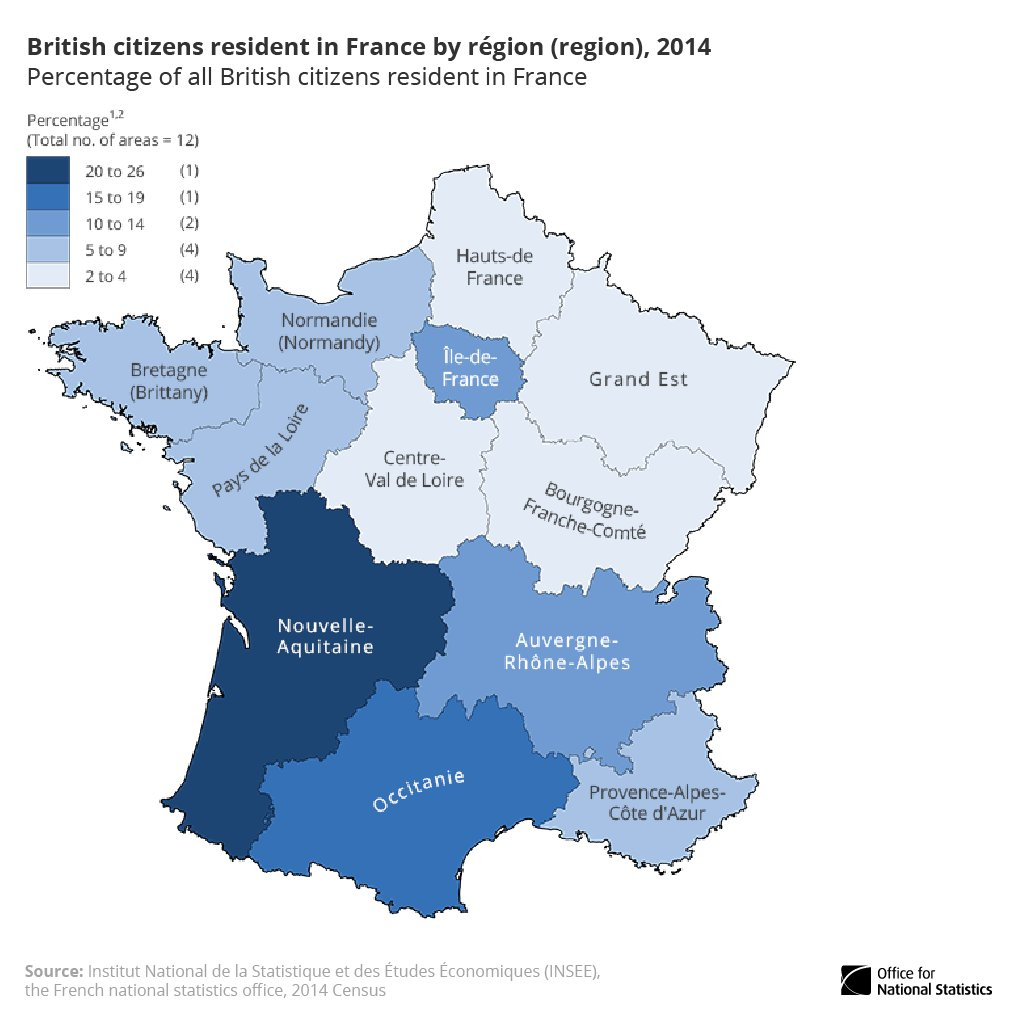 "Office For National Statistics (Ons) Ar Twitter: ""26% Of pour Nouvelle Region France"