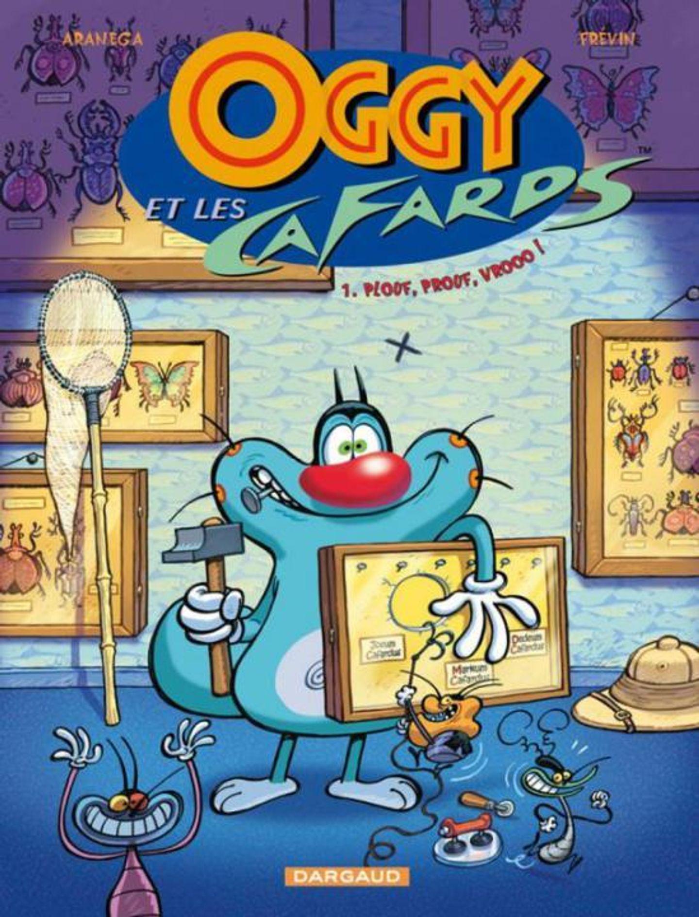 Oggy Et Les Cafards, Tome 1 : Plouf, Prouf, Vrooo ! tout Album Plouf