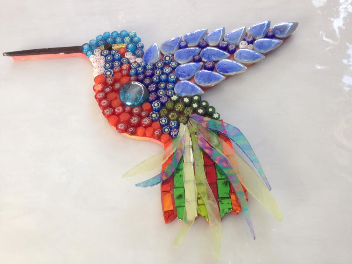 Oiseau Colibri Support Bois Pour Mosaïque serapportantà Support Pour Mosaique