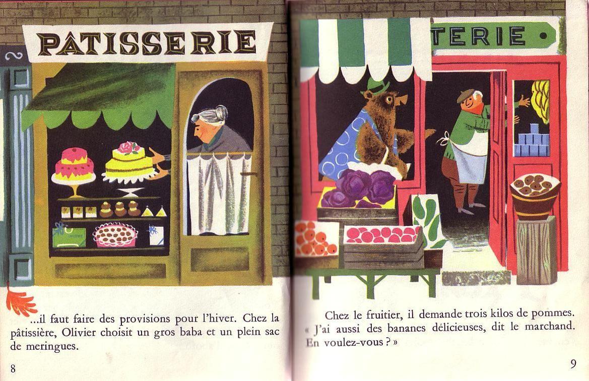 Olivier L'ours Savant - Bernice Myers   Vintage Illustration destiné Ours Savant