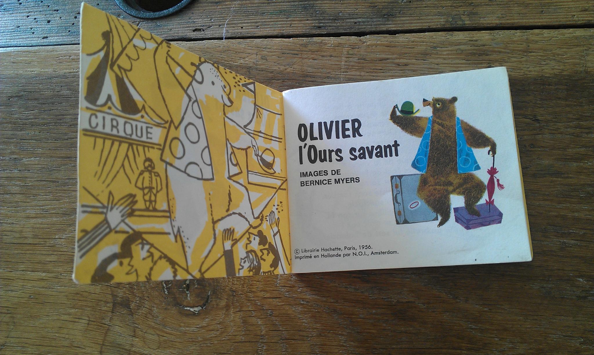 Olivier L'ours Savant - My Little A tout Ours Savant