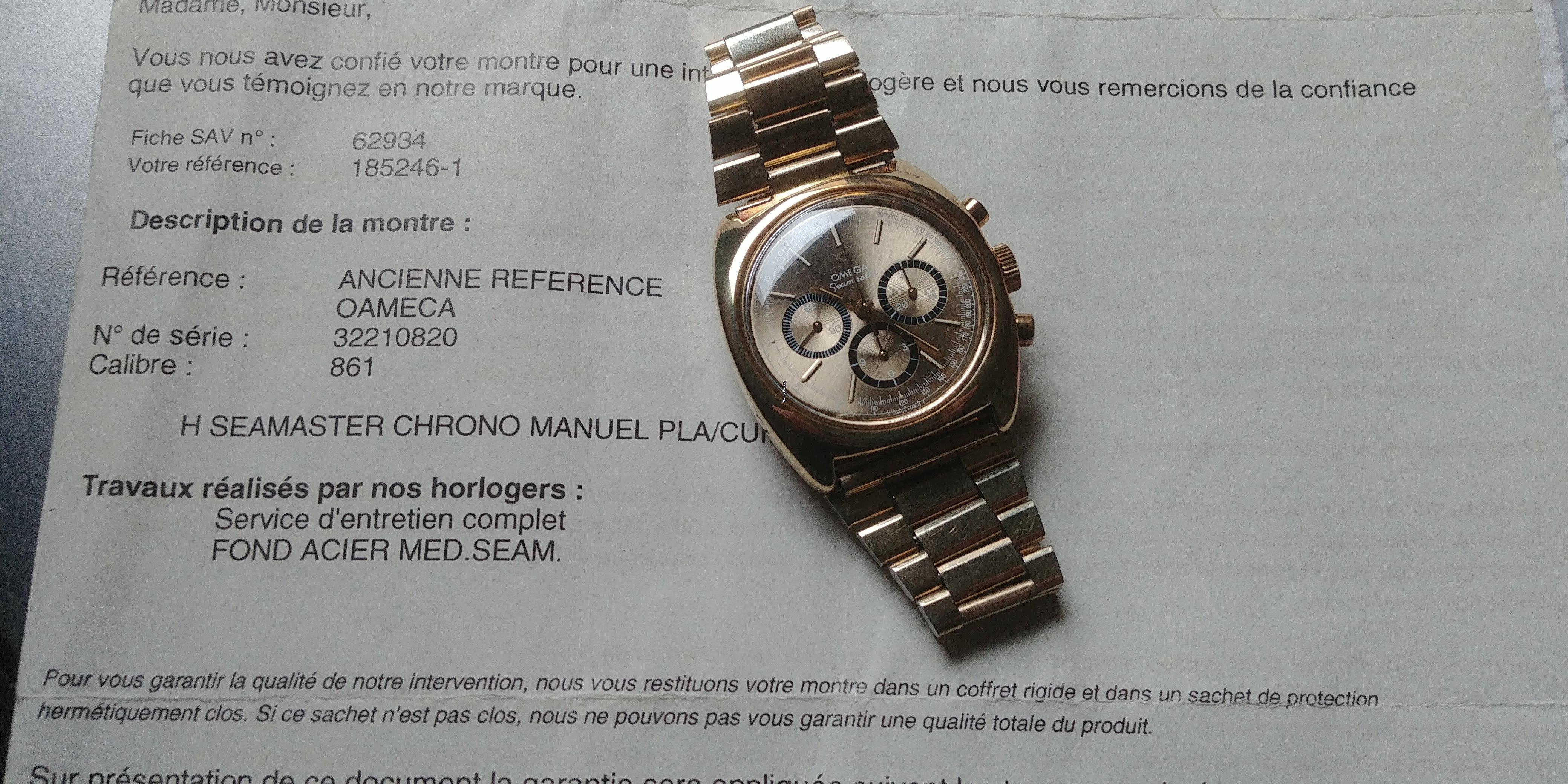 Omega Vintage Seamaster 861 Chronograph Für 2.700 € Kaufen dedans Monsieur Le Montre