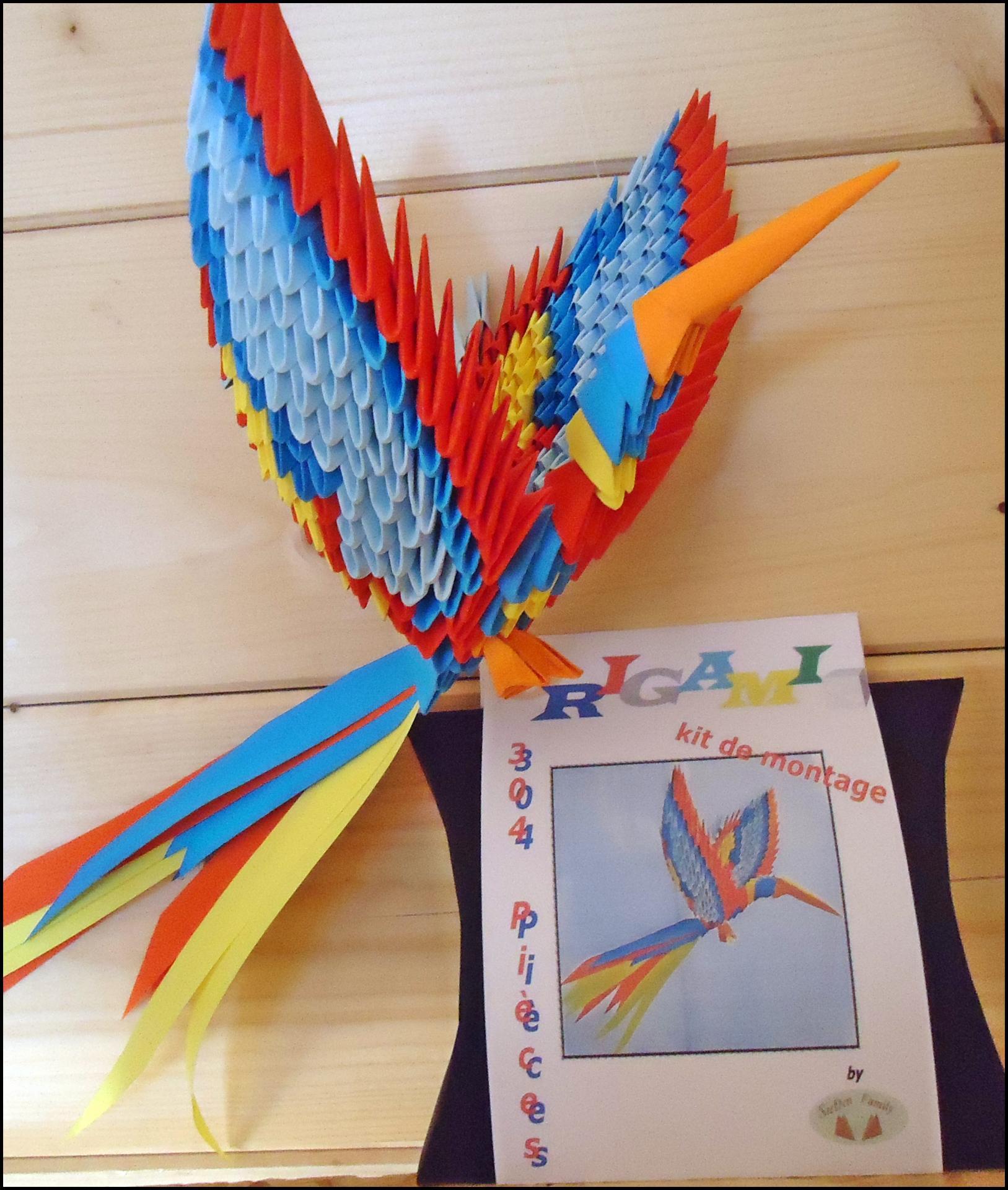Origami 3D , Papier , Modules , Dreiecke , Rechtecke tout Origami Canard