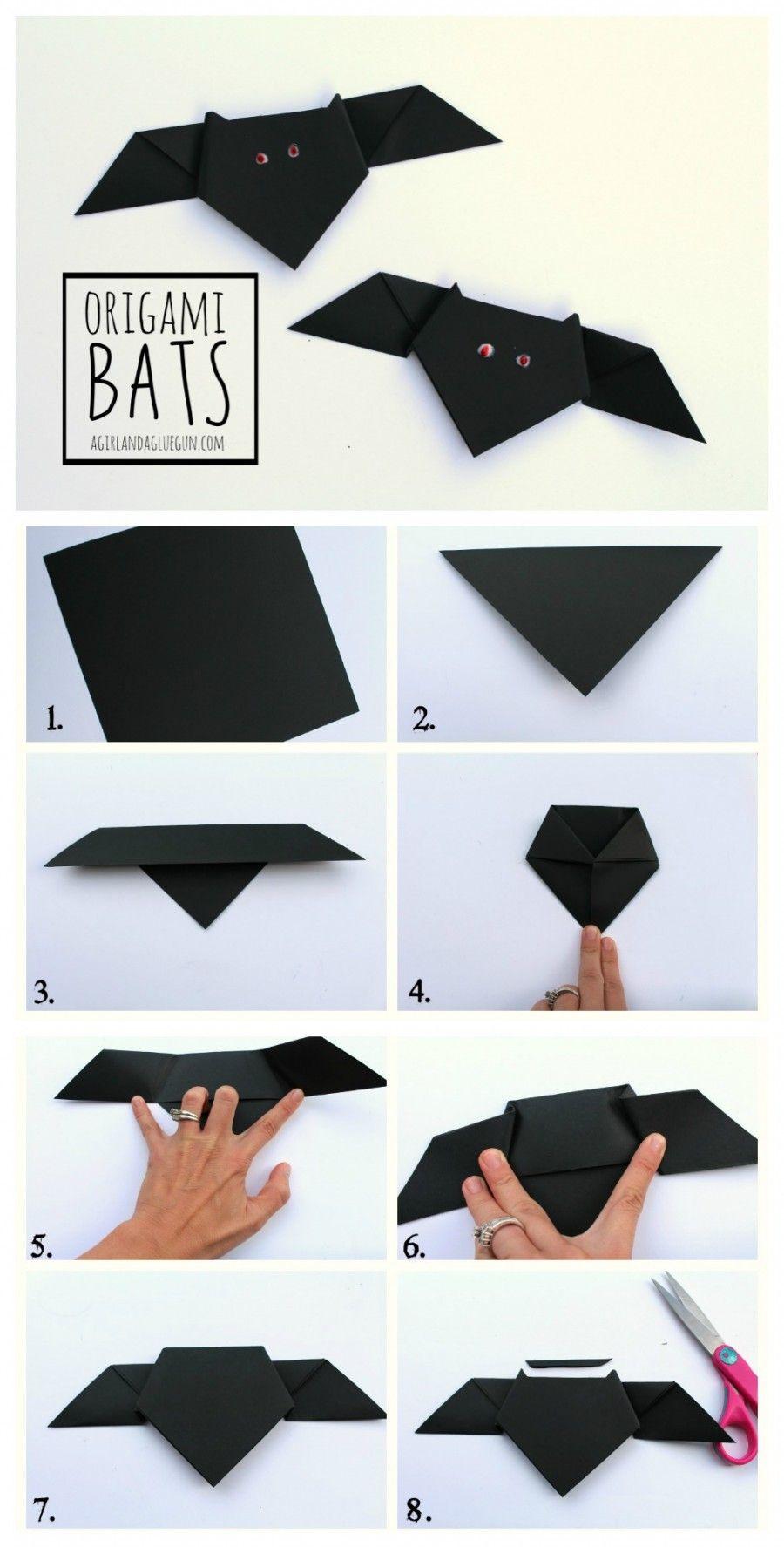 Origami Bats   Origamis Halloween, Origami Enfant Et à Origami Chauve Souris