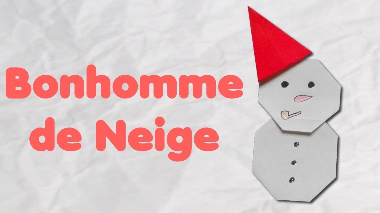 Origami : Bonhomme De Neige - Musique De Noël serapportantà Origami Bonhomme De Neige