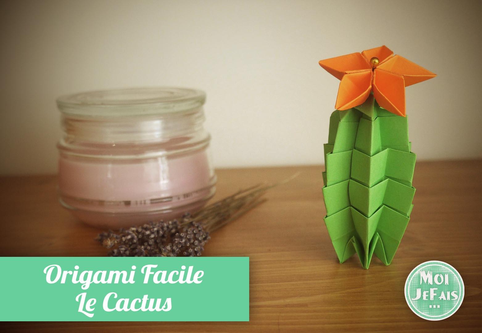 Origami Cactus Diy - Les Origamis Faciles concernant Origami Facile A Faire En Français