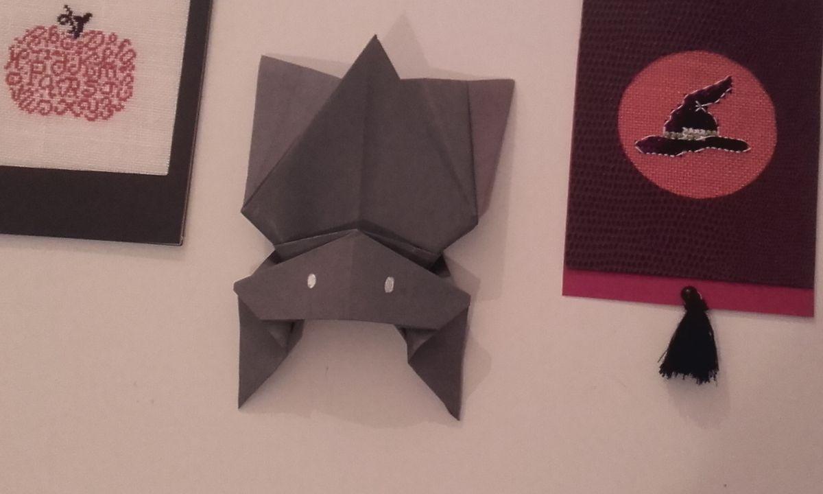 Origami : Chauve Souris - La Ruche À Idées à Origami Chauve Souris