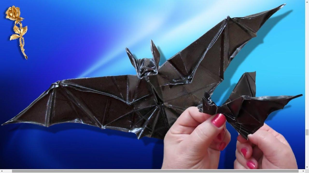 Origami : Chauve-Souris Qui Bat Les Ailes tout Origami Chauve Souris