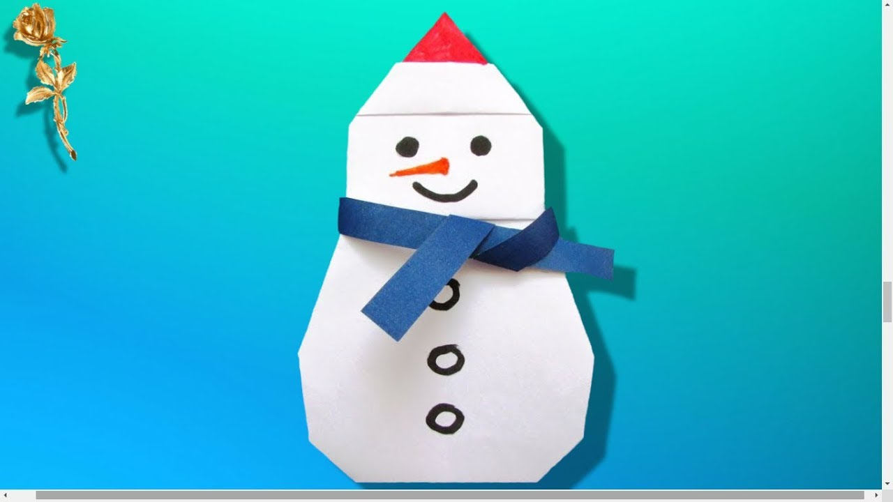 Origami : ☃️ Bonhomme De Neige ⛄️ avec Origami Bonhomme De Neige