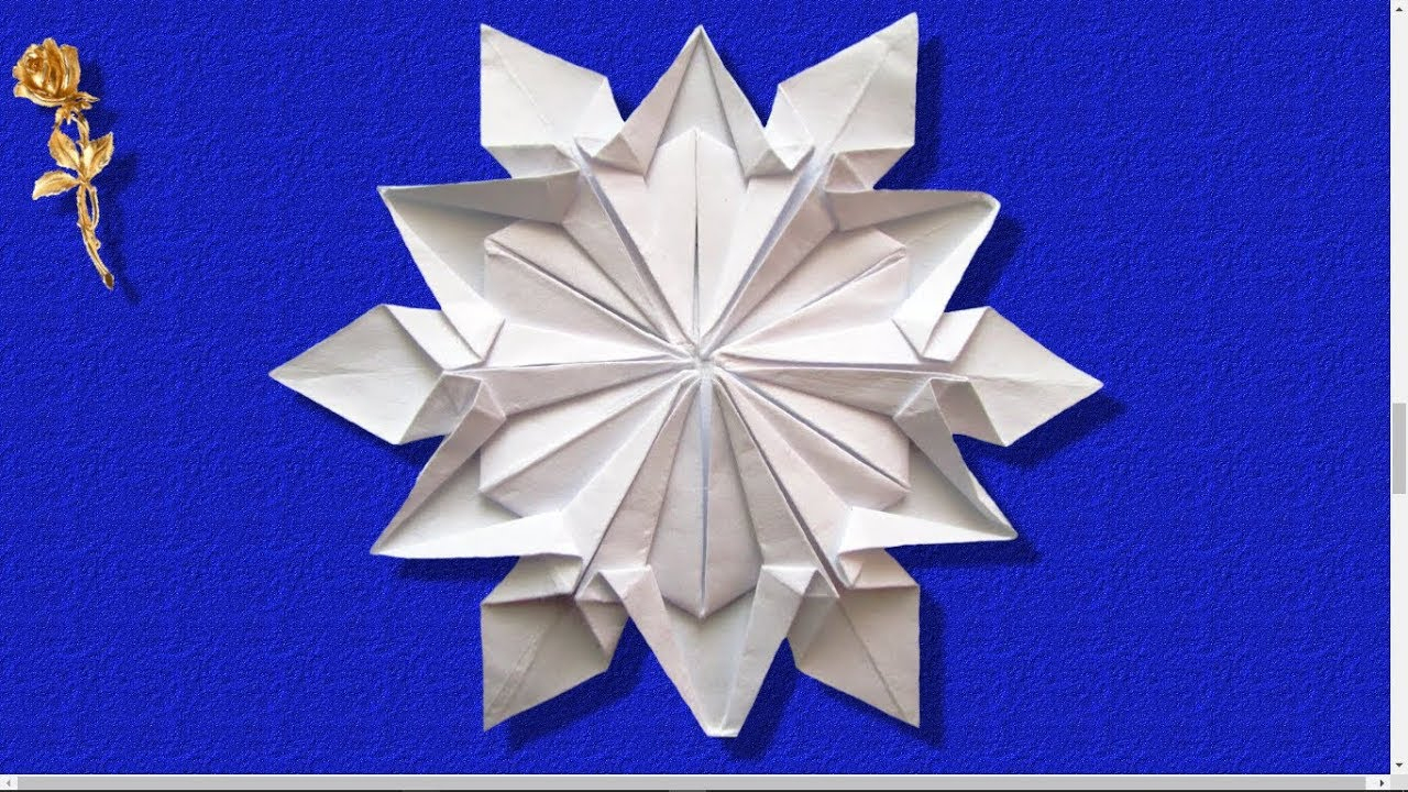 Origami : ❄️ Flocon De Neige ❄️ (Dennis Walker) dedans Origami Bonhomme De Neige