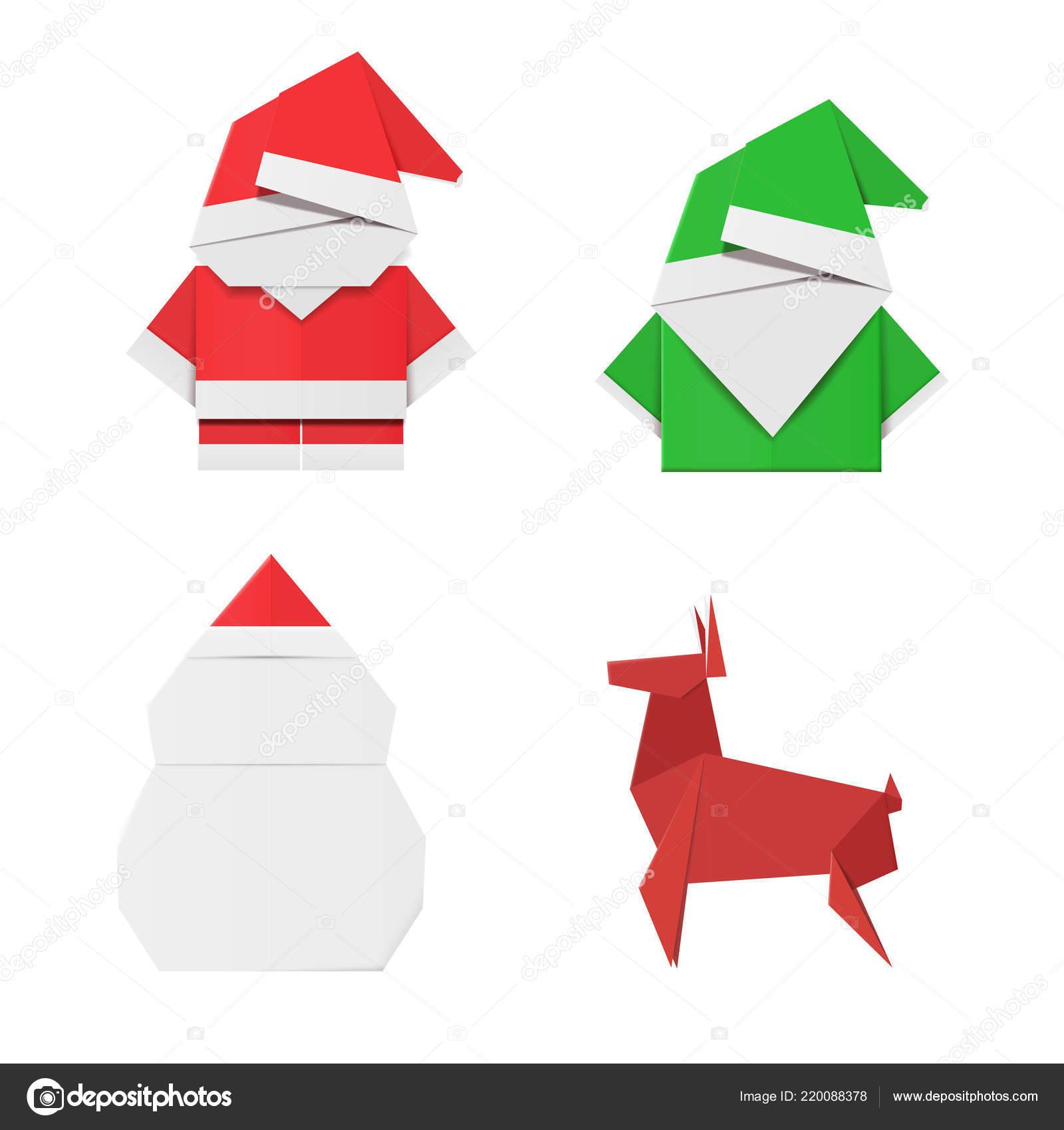 Origami Elf | Set Origami Christmas Characters Santa Claus avec Origami Bonhomme De Neige