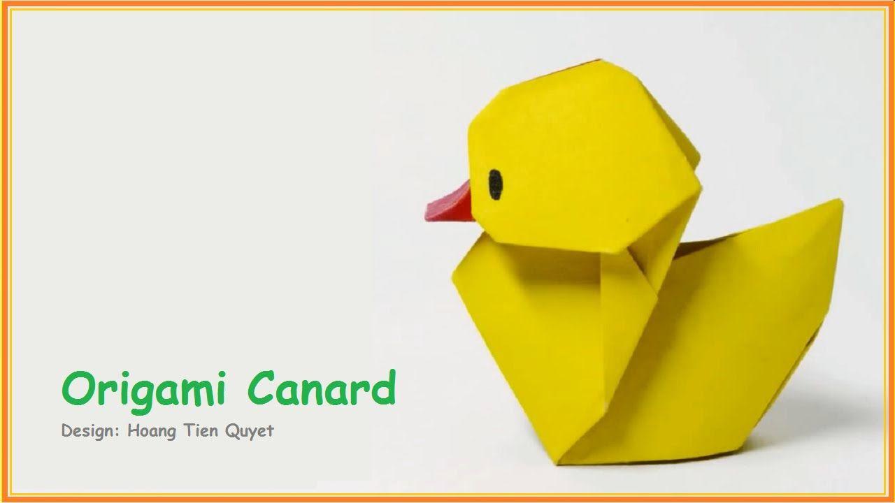 Origami Facile Animaux - Origami Canard | Origami Facile concernant Origami Canard
