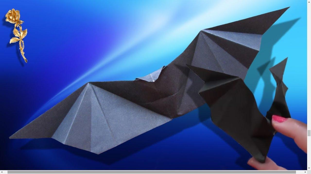 Origami Facile : Chauve-Souris Agitant Les Ailes à Origami Chauve Souris