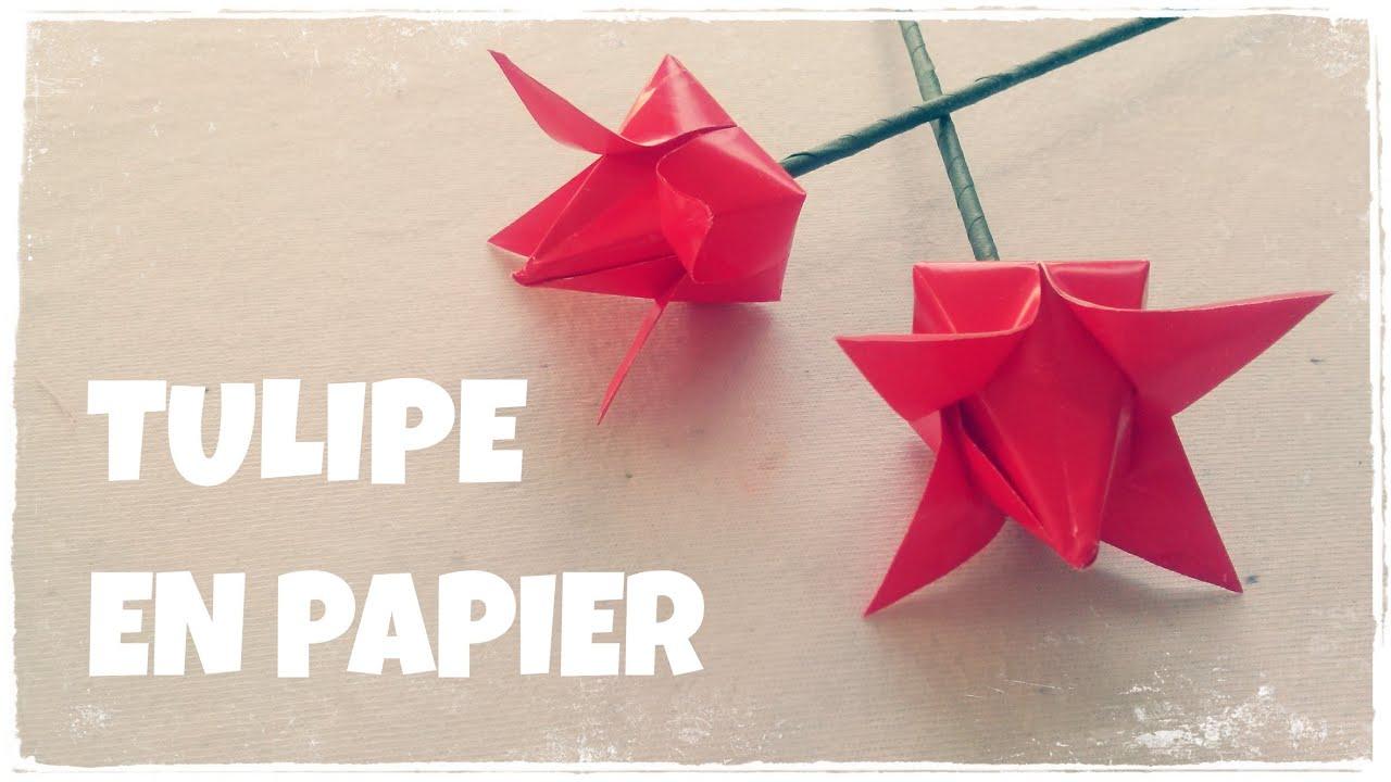 Origami Facile - Comment Faire Une Tulipe En Papier destiné Origami Rose Facile A Faire