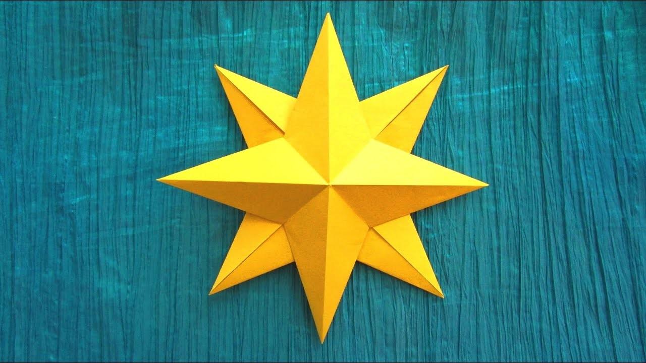 Origami Facile : Étoile, Rose Des Vents avec Origami Facile A Faire En Français