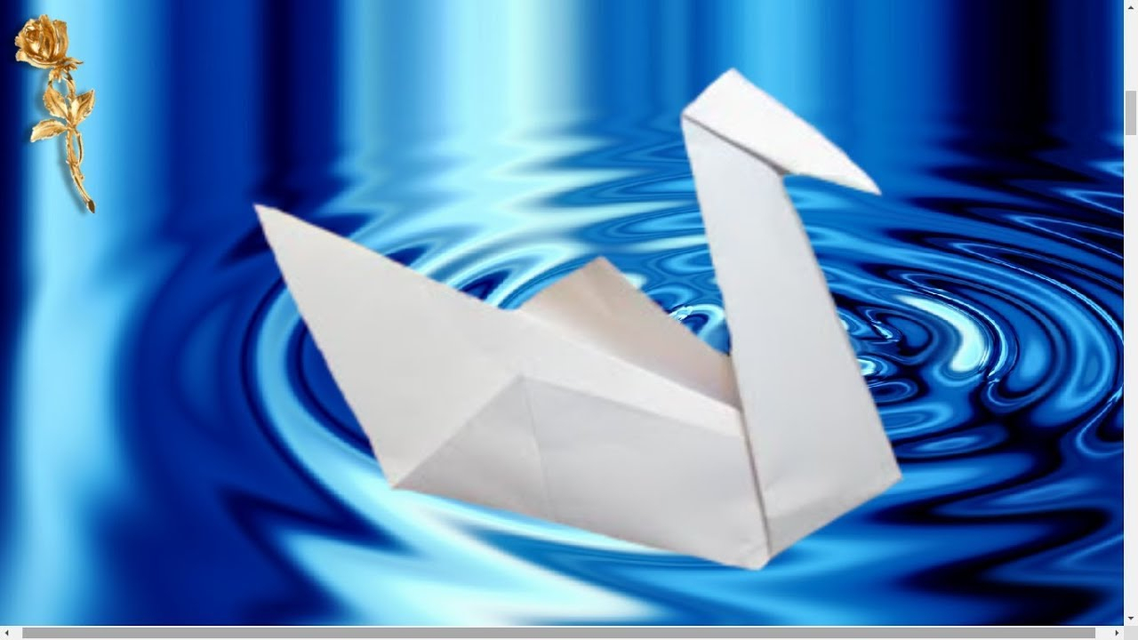 Origami Facile : 🦢 Cygne ❤️ avec Origami Facile A Faire En Français