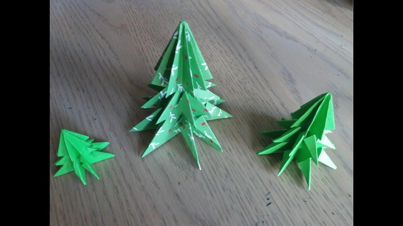 Origami Facile : Le Sapin De Noel (Christmas Tree Par Alexandre 7 Ans) concernant Origami Sapin De Noel