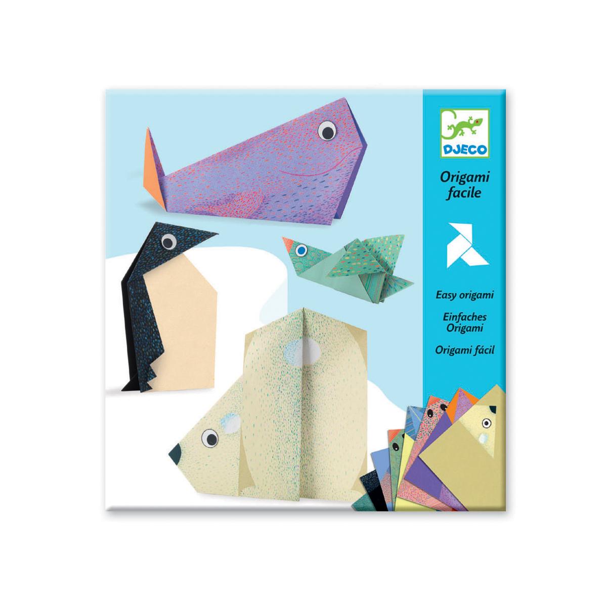 Origami Facile 'les Animaux Polaires' - À Partir De 5 Ans dedans Origami Facile A Faire En Français