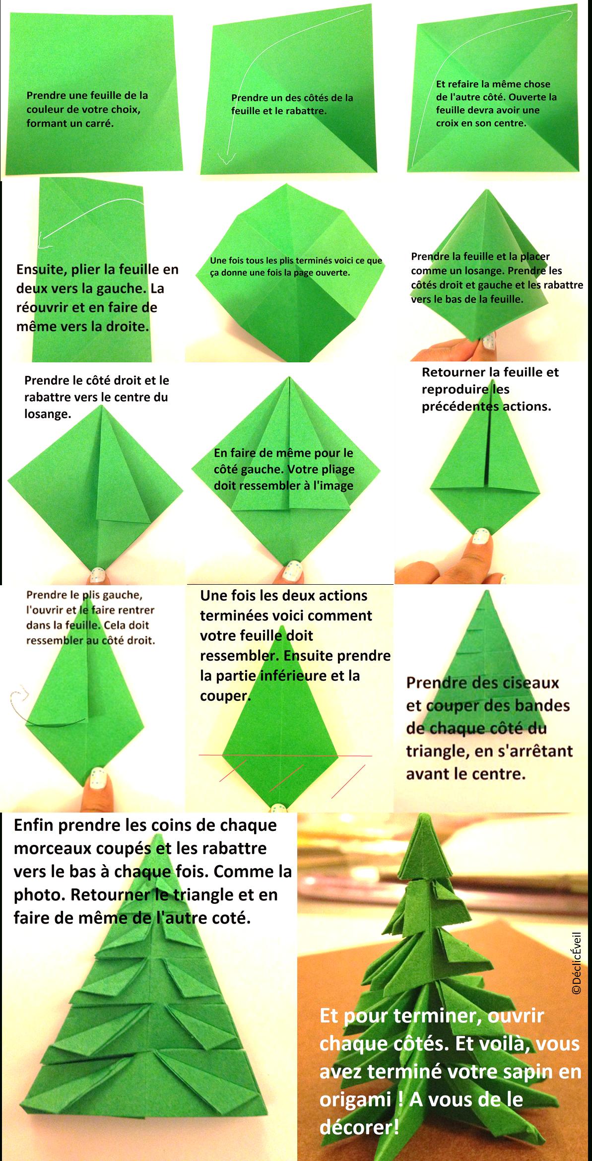 Origami Facile Noel Sapin | Origami Facile, Origami Sapin De serapportantà Origami Sapin De Noel