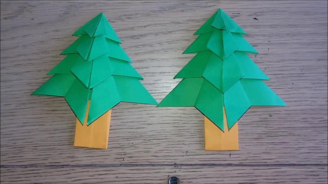 Origami Facile : Sapin De Noel (Christmas Tree Par Alexandre 7 Ans) tout Origami Sapin De Noel