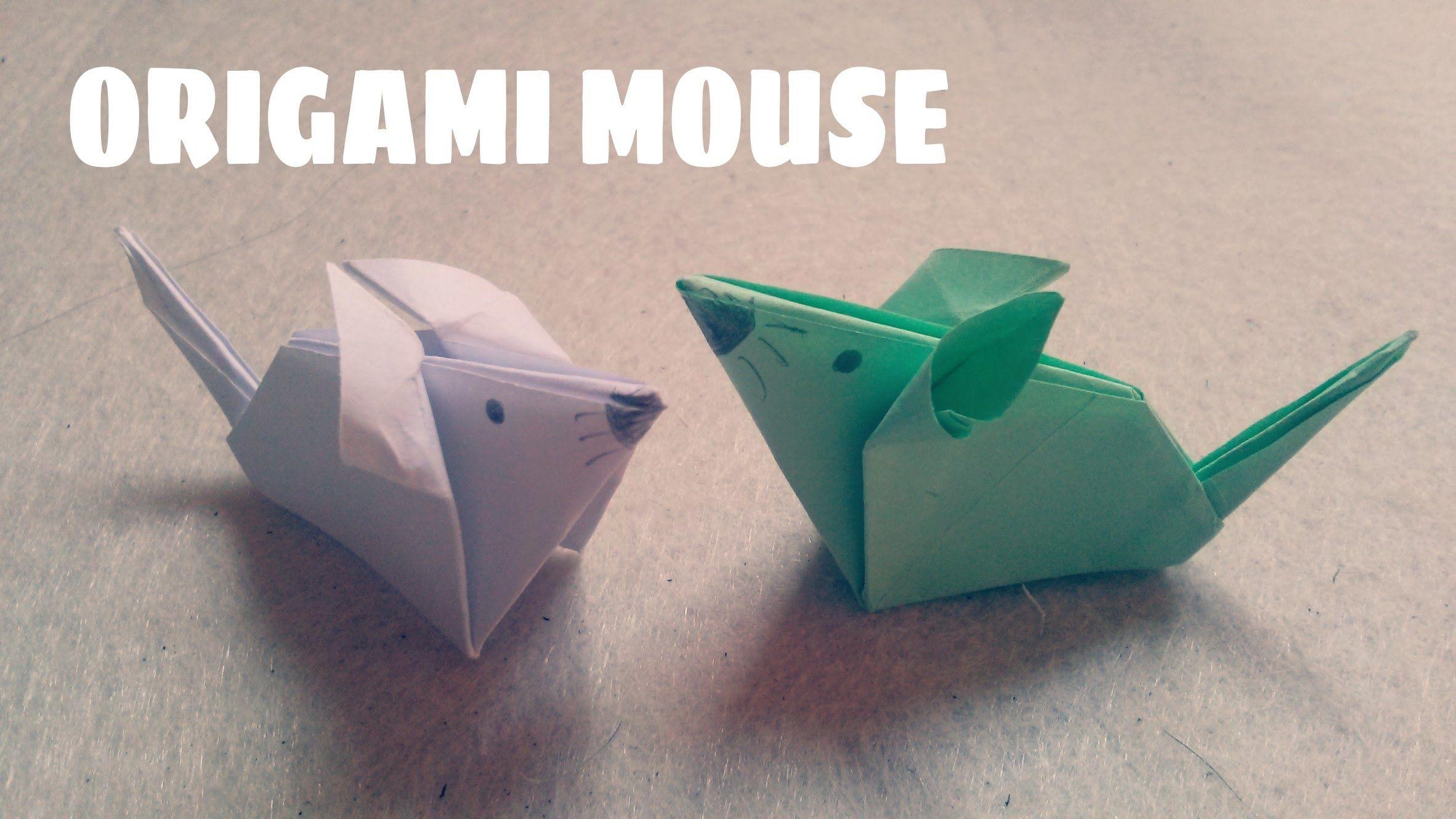 Origami Facile - Souris | Origami-Tiere, Origami Für Kinder tout Origami Facile A Faire En Français