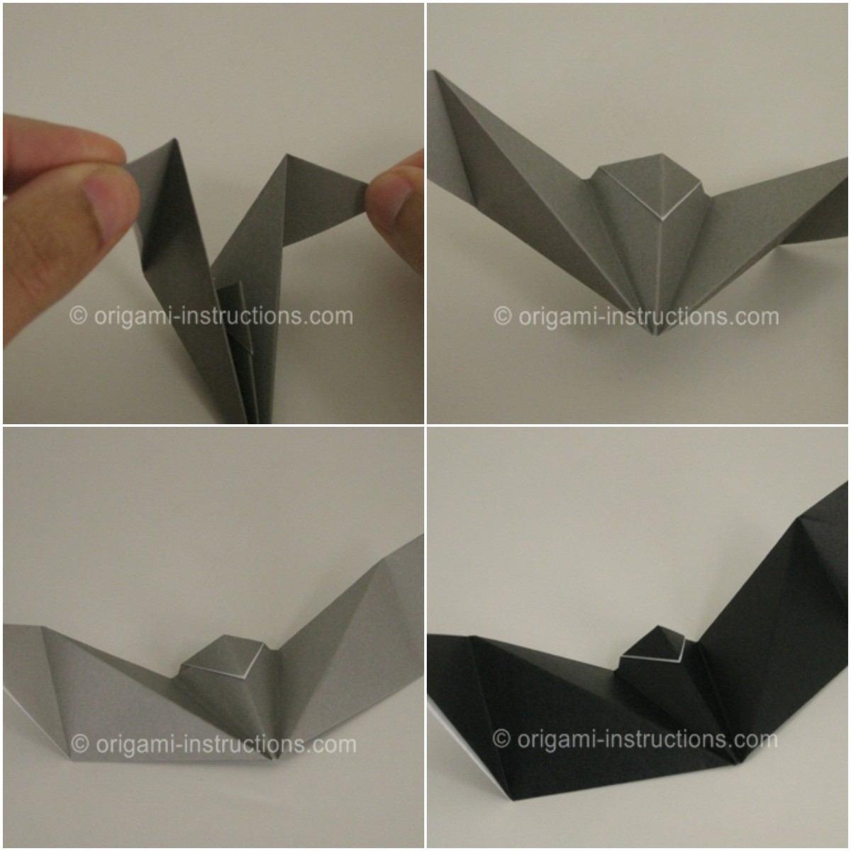 Origami Halloween Facile Étape Par Étape : Les Motifs Populaires serapportantà Origami Chauve Souris