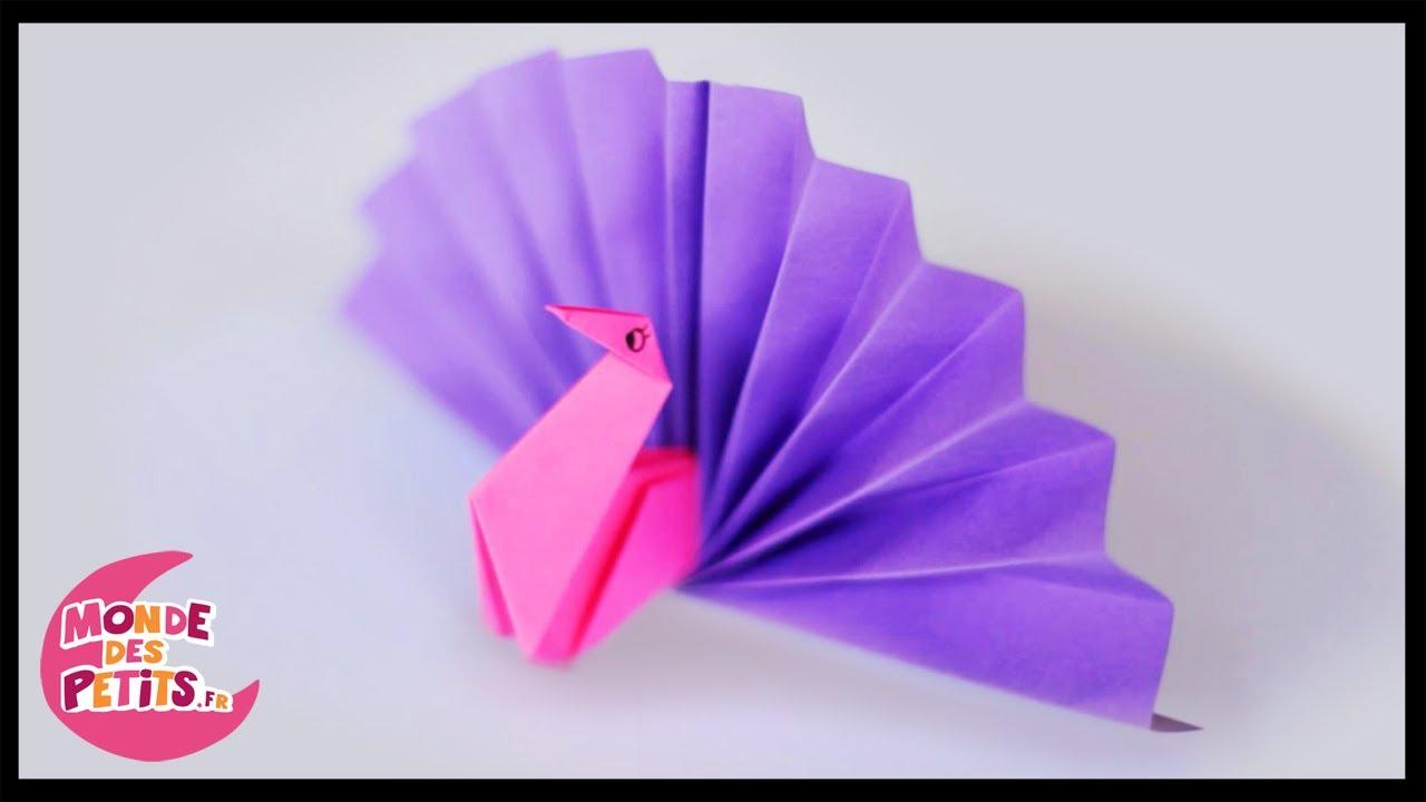Origami: Le Paon En Papier Plié encequiconcerne Origami Facile A Faire En Français