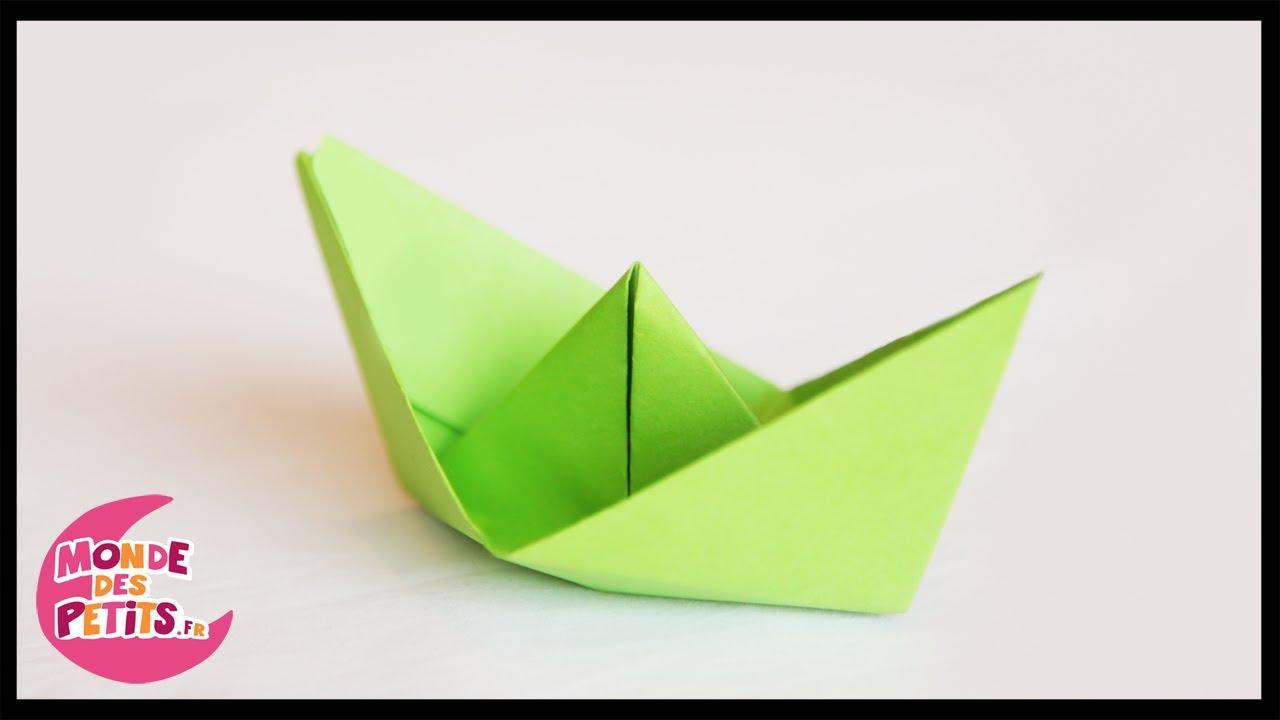 Origami: Le Petit Bateau En Papier Plié à Origami Petit Bateau