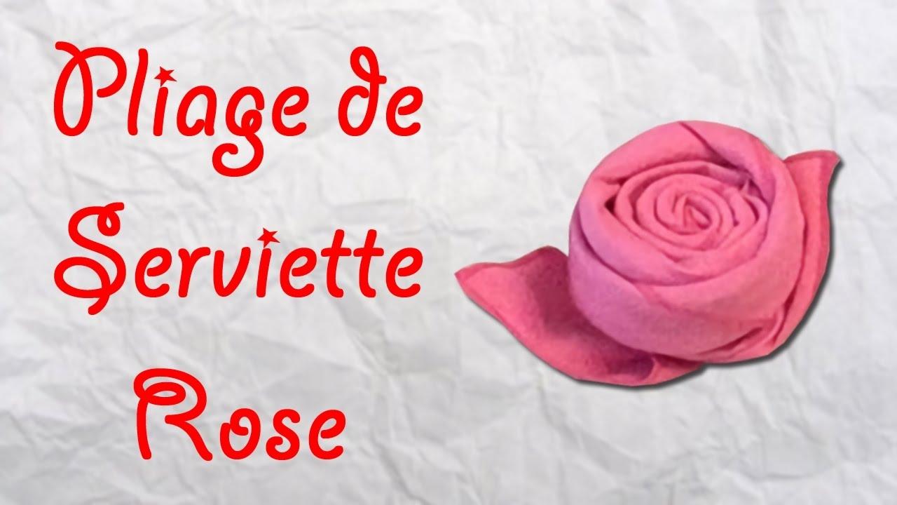 Origami : Pliage De Serviette Rose - Serviette En Forme De Rose avec Origami Rose Facile A Faire