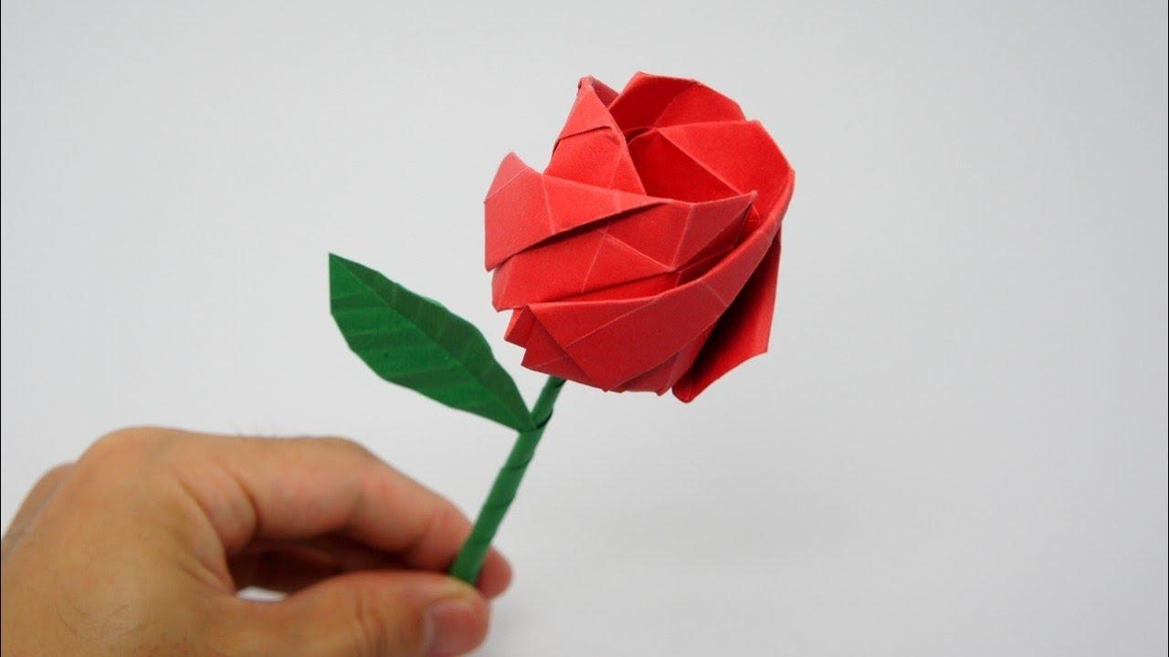 Origami Rose (Jo Nakashima) à Origami Rose Facile A Faire